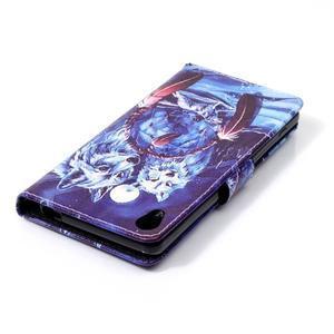 Emotive PU kožené knížkové puzdro pre Sony Xperia XA - mýtičtí vlci - 5