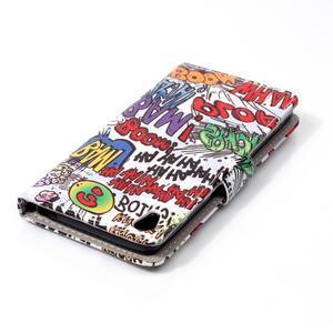 Emotive PU kožené knížkové puzdro pre Sony Xperia XA - boom - 5