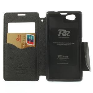 Okýnkové pouzdro na mobil Sony Xperia Z1 Compact - černé - 5