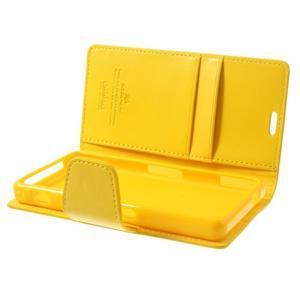 Sonata PU kožené puzdro pre mobil Sony Xperia Z1 Compact - žlté - 5