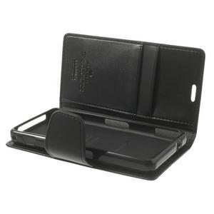 Sonata PU kožené puzdro pre mobil Sony Xperia Z1 Compact - čierne - 5