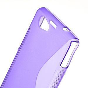 Gélové S-line puzdro pre Sony Xperia Z1 Compact - fialové - 5