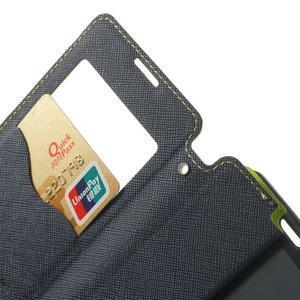 Okýnkové pouzdro na mobil Sony Xperia Z1 Compact - zelené - 5