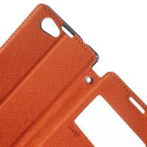 Okýnkové puzdro pre mobil Sony Xperia Z1 Compact - oranžové - 5