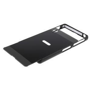 Kovový kryt s plastovými chrbtom na Sony Xperia Z1 - čierny - 5