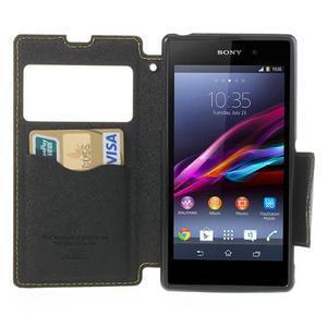 Okýnkové pouzdro na mobil Sony Xperia Z1 - žluté - 5