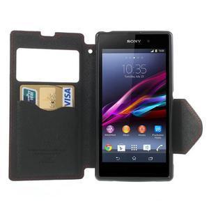 Okýnkové pouzdro na mobil Sony Xperia Z1 - červené - 5