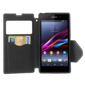 Okýnkové pouzdro na mobil Sony Xperia Z1 - bílé - 5