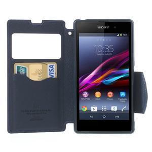 Okýnkové pouzdro na mobil Sony Xperia Z1 - fialové - 5