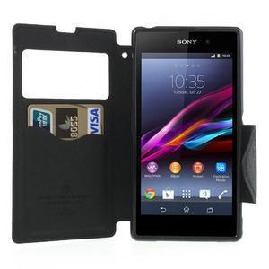 Okýnkové pouzdro na mobil Sony Xperia Z1 - černé - 5