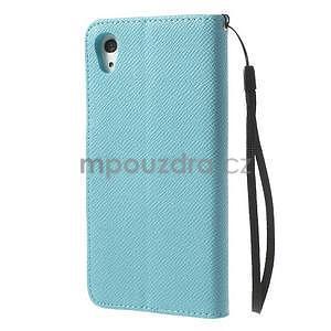 Štýlové Peňaženkové puzdro pre Sony Xperia Z2 - svetle modré - 5