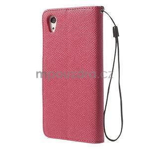 Štýlové Peňaženkové puzdro pre Sony Xperia Z2 - rose - 5