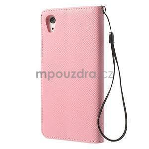 Štýlové Peňaženkové puzdro pre Sony Xperia Z2 - ružové - 5