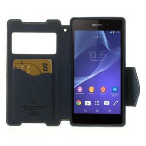 Okýnkové puzdro pre mobil Sony Xperia Z2 - zelené - 5