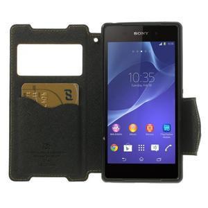 Okýnkové puzdro pre mobil Sony Xperia Z2 - žlté - 5