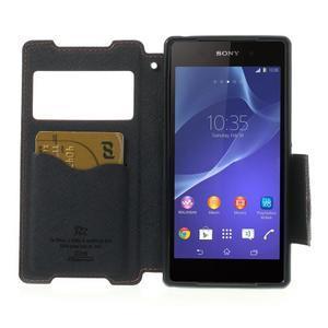 Okýnkové puzdro pre mobil Sony Xperia Z2 - červené - 5