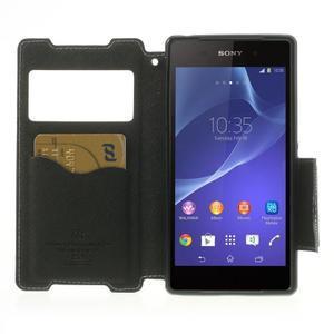 Okýnkové pouzdro na mobil Sony Xperia Z2 - bílé - 5