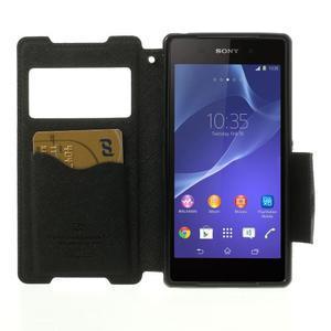Okýnkové puzdro pre mobil Sony Xperia Z2 - čierne - 5