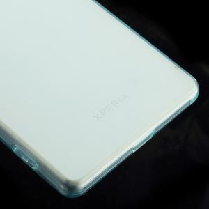 Ultratenký slim gélový obal pre mobil Sony Xperia Z2 - cyan - 5