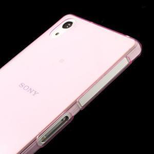 Ultratenký slim gelový obal na mobil Sony Xperia Z2 - rose - 5