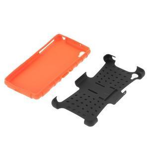 Outdoor odolný kryt na mobil Sony Xperia Z2 - oranžový - 5