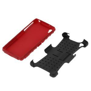 Outdoor odolný kryt pre mobil Sony Xperia Z2 - červený - 5
