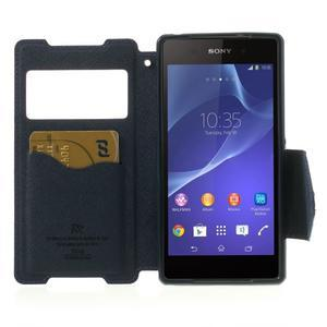 Okýnkové puzdro pre mobil Sony Xperia Z2 - fialové - 5