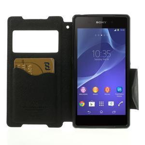 Okýnkové puzdro pre mobil Sony Xperia Z2 - tmavomodré - 5