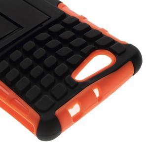 Odolný ochranný kryt na Sony Xperia Z3 Compact - oranžový - 5