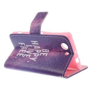 Knížkové puzdro pre mobil Sony Xperia Z3 Compact - be happy - 5