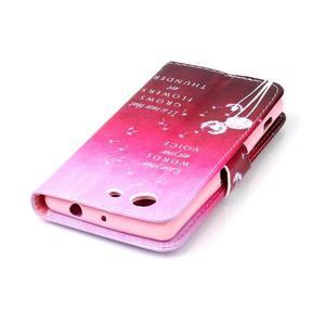 Emotive knížkové puzdro pre Sony Xperia Z3 Compact - púpavy - 5