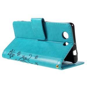 Butterfly PU kožené pouzdro na mobil Sony Xperia Z3 Compact - modré - 5