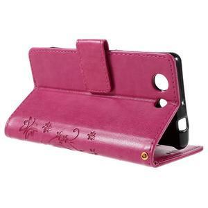 Butterfly PU kožené puzdro pre mobil Sony Xperia Z3 Compact - rose - 5