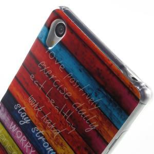 Gélový obal pre mobil Sony Xperia Z3 - farby dreva - 5