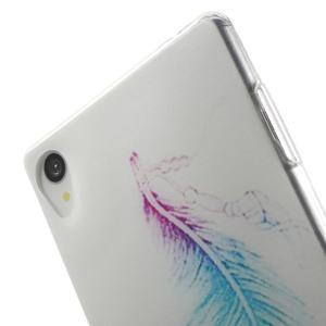 Ultratenký gelový obal na mobil Sony Xperia Z3 - peříčko - 5