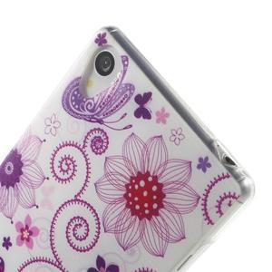 Ultratenký gelový obal na mobil Sony Xperia Z3 - pohádkový motýl - 5