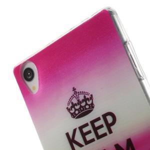 Ultratenký gélový obal pre mobil Sony Xperia Z3 - Keep Calm - 5