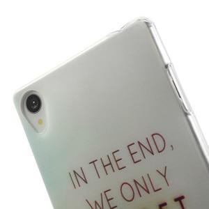 Ultratenký gélový obal pre mobil Sony Xperia Z3 - regret - 5