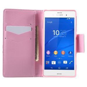 Emotive Peňaženkové puzdro pre Sony Xperia Z3 - sova - 5