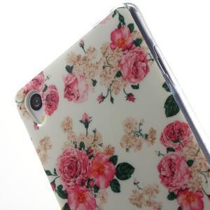 Gélový obal pre mobil Sony Xperia Z3 - kvetiny - 5