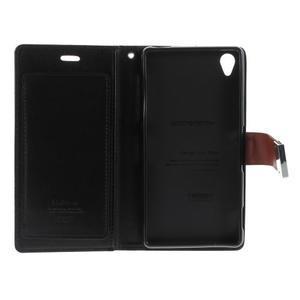 Luxury PU kožené pouzdro na mobil Sony Xperia Z3 - hnědé - 5