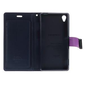 Luxury PU kožené pouzdro na mobil Sony Xperia Z3 - fialové - 5