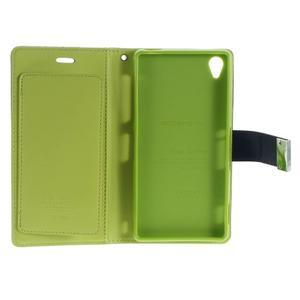 Luxury PU kožené puzdro pre mobil Sony Xperia Z3 - tmavomodré - 5