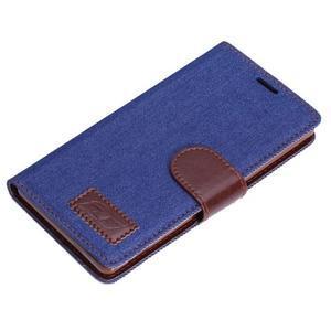 Jeans knížkové pouzdro na mobil Sony Xperia Z3 - tmavěmodré - 5