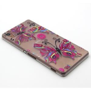 Gelový obal na mobil Sony Xperia Z3 - barevný motýlci - 5