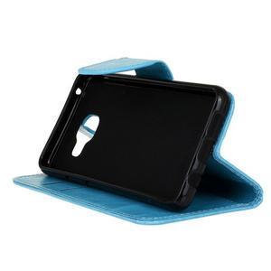 Hoor PU kožené puzdro pre mobil Samsung Galaxy A3 (2016) - modré - 5