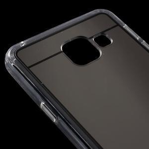 Zrcadlový gélový kryt pre Samsung Galaxy A3 (2016) - čierný - 5