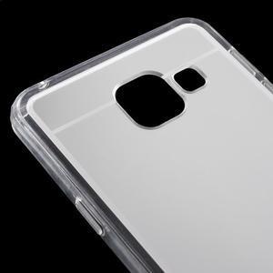 Zrcadlový gélový kryt pre Samsung Galaxy A3 (2016) - strieborny - 5