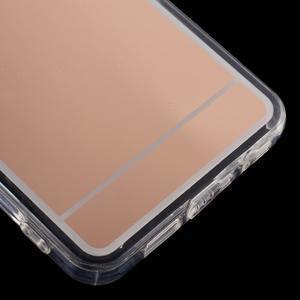 Zrcadlový gelový kryt na Samsung Galaxy A3 (2016) - rose gold - 5