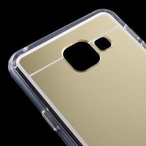 Zrcadlový gélový kryt pre Samsung Galaxy A3 (2016) - zlatý - 5